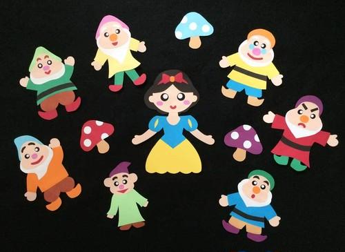 【物語の壁面】白雪姫と7人の小人