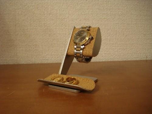 彼氏の誕生日プレゼントに 半円トレイ付き腕時計スタンド  No.130228