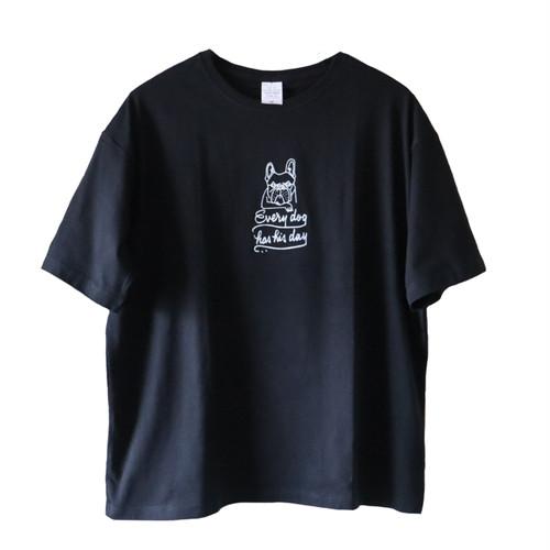 """hntbk BIG Tshirt Maskita Laba """"french bulldog"""" BLACK"""