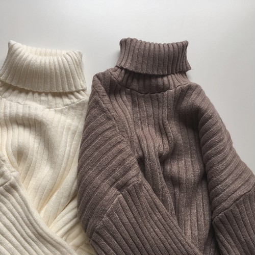 turtleneck rib knit(for mom)