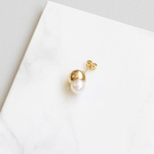 ■solid pearl pierce -round / gold-■ ソリッドパールピアス ラウンド ゴールド