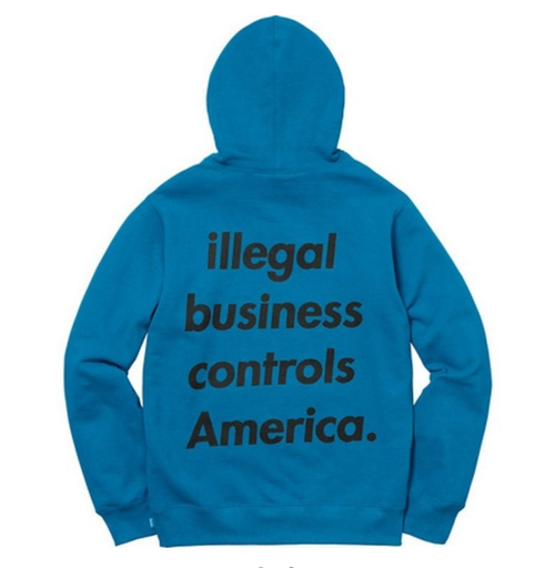 Supreme Illegal Business Hooded Sweat