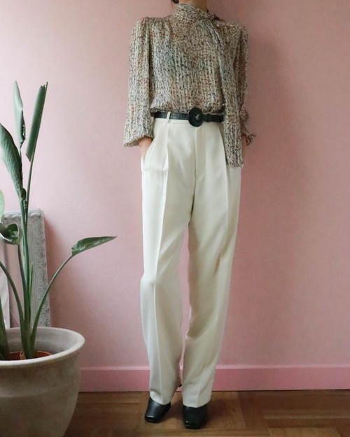 White tapered pants