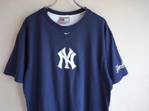 2000's [NIKE] MLB  Yankees Tシャツ ネイビー 表記(L) ナイキ ニューヨーク・ヤンキース