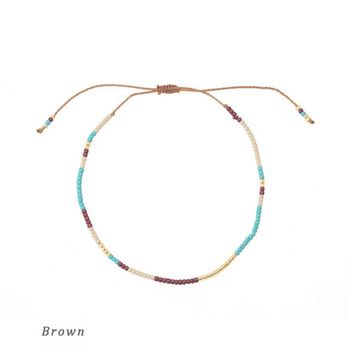 【MATSUNO GLASS BEADS】ANKLET—Friendship-A1=a