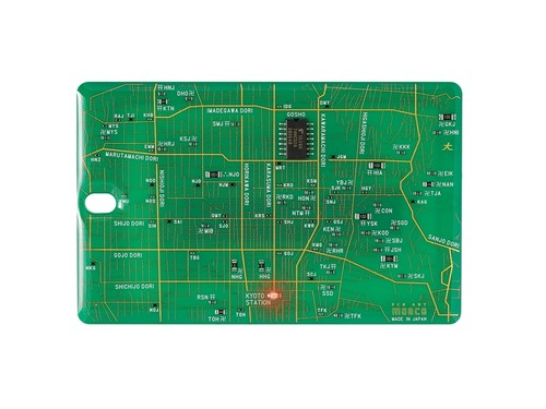 FLASH 京都回路地図 ICカードケース 緑【名入れ無料サービス実施中】