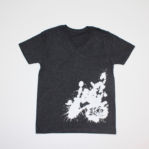 VネックTシャツ(グレー)
