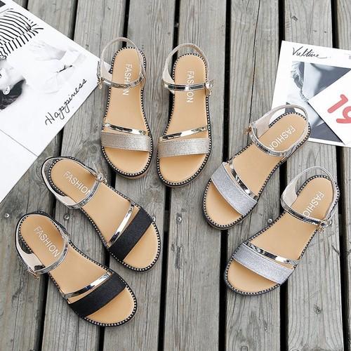フラットサンダル アンクルストラップ 韓国ファッション レディース ぺたんこ サンダル ストラップ キュート 痛くない かわいい 歩きやすい