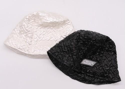 クシュールビニールバケットハット(Black,White) 3200