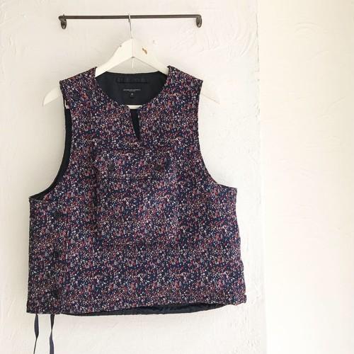Engineered Garments(エンジニアド ガーメンツ)2019FW Cover Vest-Mini Floral Jacquard