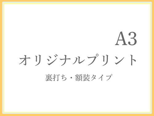 オリジナルプリント_A3【裏打ち・額装タイプ】