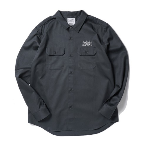 AVAILABLE NOWHERE JUDYS THE FACE WORK SHIRT(DARK GREY)