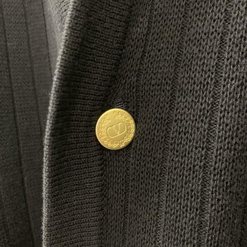 valentino カーディガン ネイビー コットン/ウール/リネン イタリア製 size M メンズ 古着