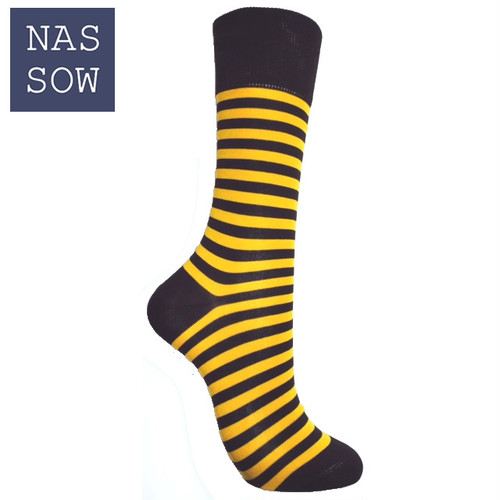 NASSOW 2017FW クラッシック ボーダー ソックス(1720202)