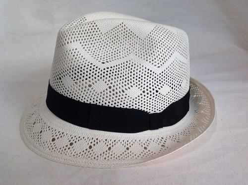 KPA-1002 K.DORFZAUN「HAND MADE PANAMA HAT」透かし編みパナマ中折れ帽