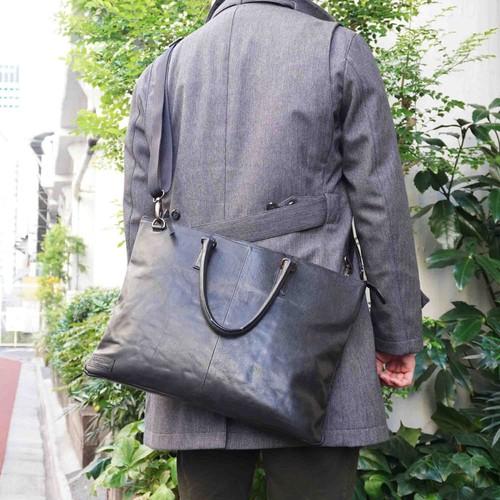 【水牛革】ムラ染め薄マチ2WAYビジネスバッグ<4色展開> ショルダーバッグ トートバッグ 軽い A4収納 W6251
