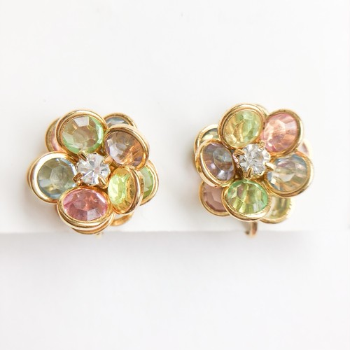 """AVON"" Faceted Petals earring[e-1195]ヴィンテージイヤリング"