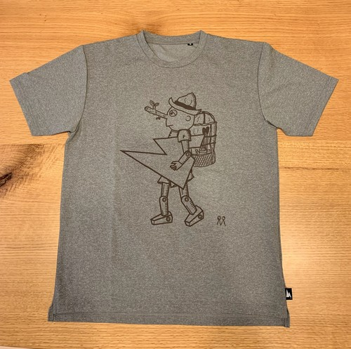 hs-40 ATHLETICS 『PINOCCHIO』 T-SHIRT ・ヘザーグレー