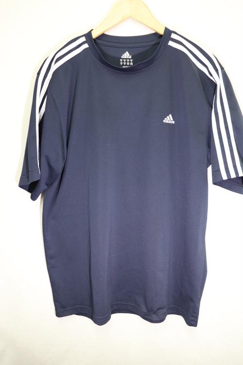 adidasネイビースポーツTシャツ