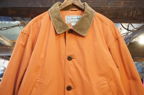 L.L.Bean coral orange adirondack Barn Coat w/animal lining
