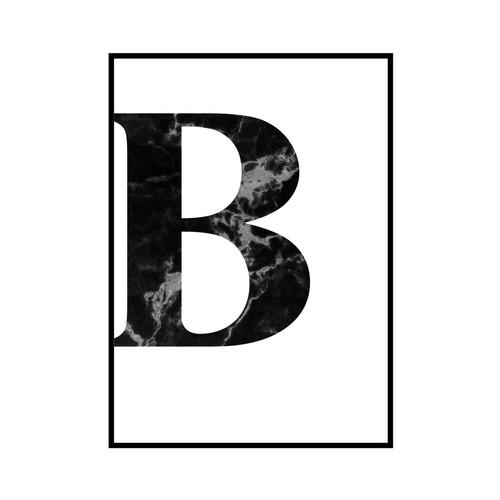 """B"" 黒大理石 - Black marble - ALPHAシリーズ [SD-000503] A3サイズ ポスター単品"