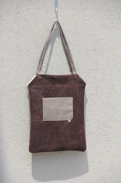 simple tote チョコブラウン×リバーブルー 【 S102 】