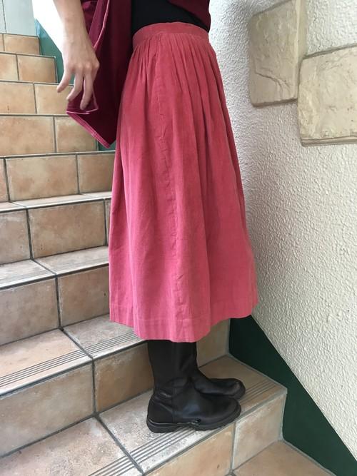 Vintage pink corduroy skirt (ヴィンテージ ピンク コーデュロイ スカート)
