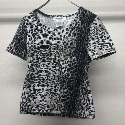 2000s CHRISTIAN DIOR BY JOHN GALLIANO LEOPARD T-SHIRT
