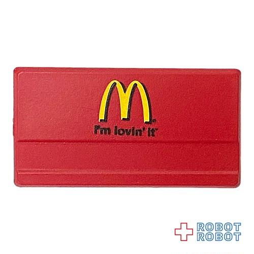 マクドナルド 名札 赤に黒文字 ネームタグ バッジ