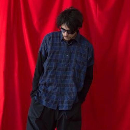 VIRGO / GUITARIST DOLMAN SHIRTS ドルマンチェックシャツ / BLUE