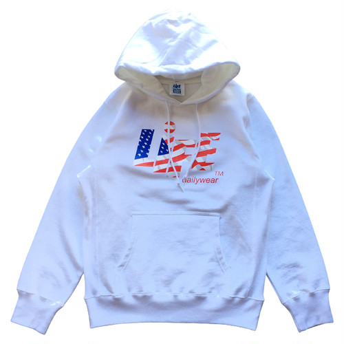 STAR & STRIPES CANDY LOGO HOODIE / LIFEdsgn