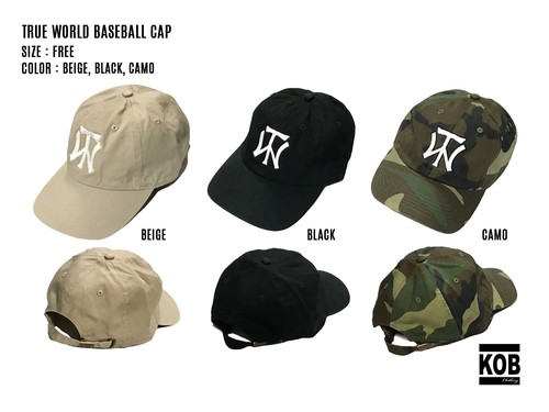 TRUE WORLD BASEBALL CAP