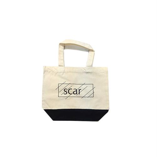 scar /////// OG LOGO REGULAR TOTE BAG / Small (Natural / Black)