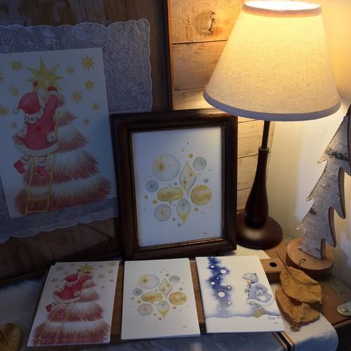 中川優 クリスマスポストカード3点セット