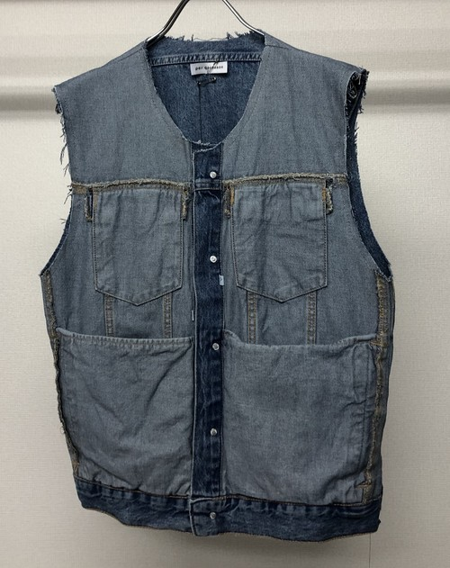 PER GOTESSON REPURPOSED VEST WASHED DENIM