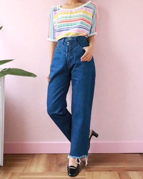 80's denim pants