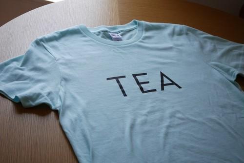 オリジナルTシャツ「TEA」シャツ ライトブルー