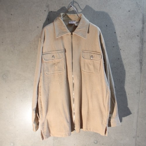 Corduroy Zip Up Shirt Jacket