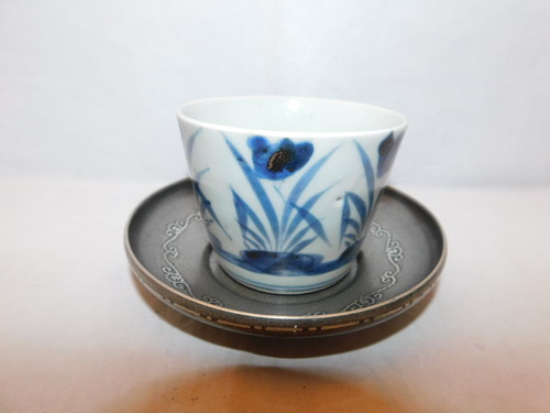 錫茶托(6客) tinJapanese tea six saucers (No27)
