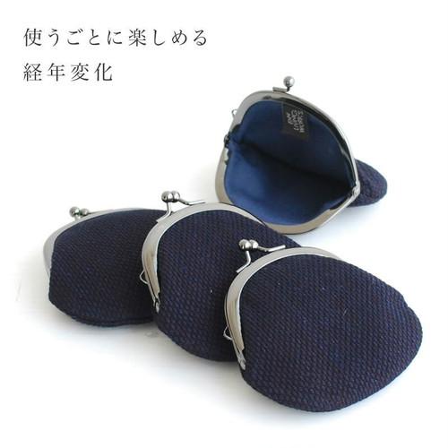 武州正藍染 がま口(2.8寸 S)