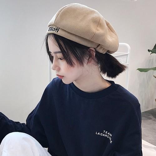 【ACC】ファッション刺繍アルファベットベレー帽子ハット23890262