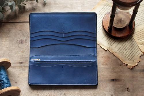 藍染革[migaki] 長財布