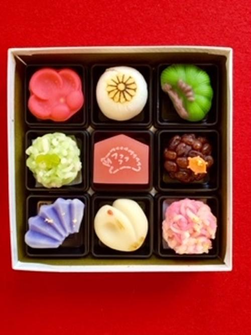 おせち菓子 9個入り|豆大福や上生菓子のお取り寄せ・桐木神楽堂