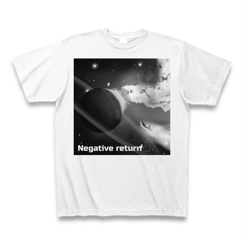 【ジャケT】ceaseless stunt「Negative return」CDジャケットTシャツ(monochrome)