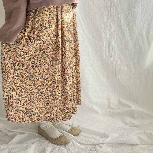 フラワープリントスカート(imy)