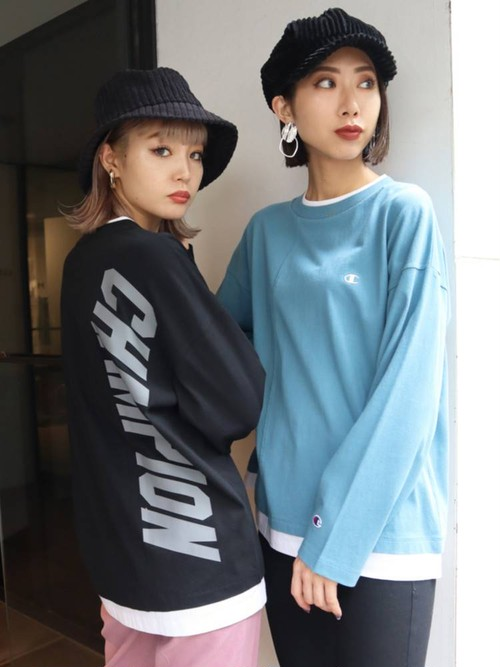 【EMODA×Champion】LOOSE LAYERプリントロンT