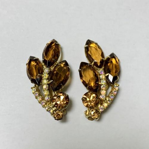 Vintage Beautiful Amber Bijoux Earrings