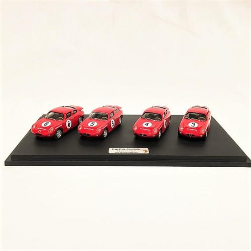 Diorama Fiat Abarth 1000 Bialbero Sebring 1962 1/43 【CarPin Models】【1個のみ】【税込価格】