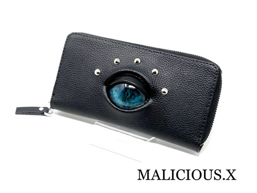 【オーダー品】reptiles eye wallet / blue