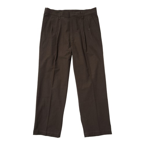 PLEATED WORK PANT(BROWN)[TH8A-081]